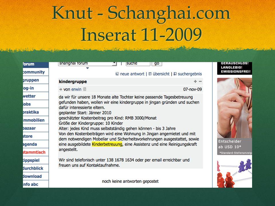 Knut - Schanghai.com Inserat 11-2009