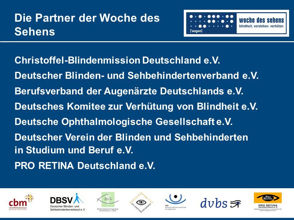 Die Partner der Woche des Sehens Christoffel-Blindenmission Deutschland e.V.