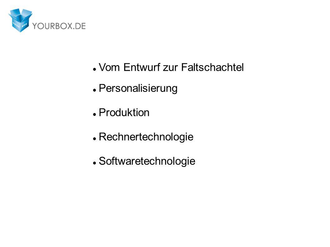Vom Entwurf zur Faltschachtel Personalisierung Produktion Rechnertechnologie Softwaretechnologie