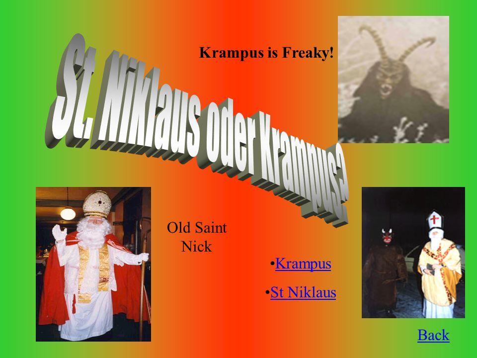 Back Krampus St Niklaus Krampus is Freaky! Old Saint Nick