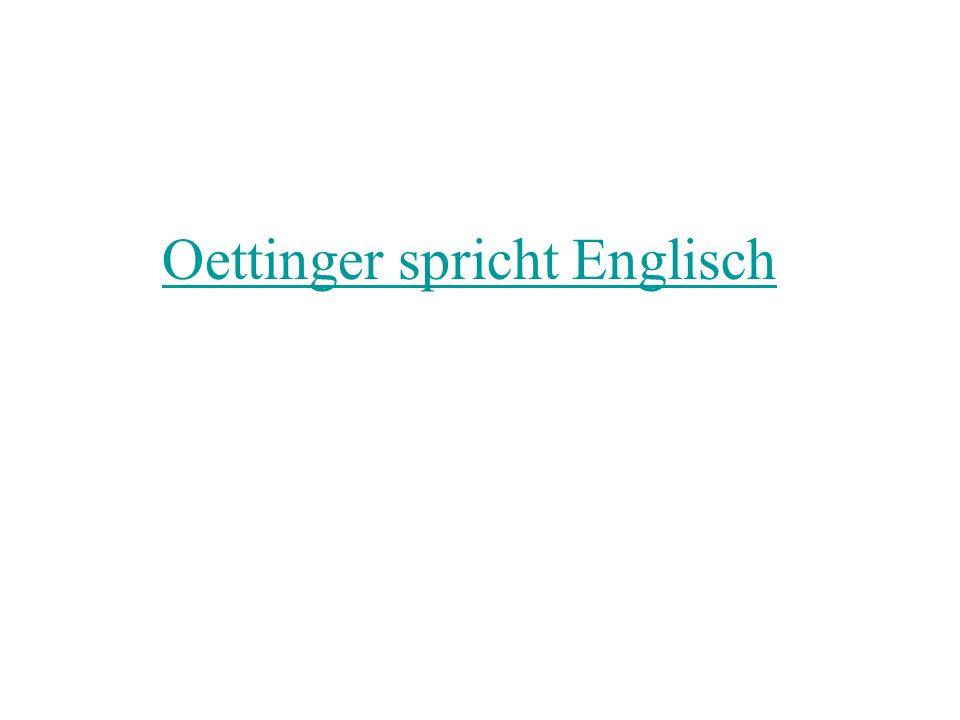 Oettinger spricht Englisch