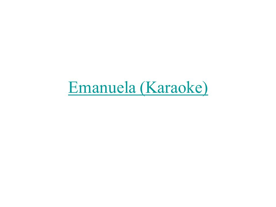 Emanuela (Karaoke)