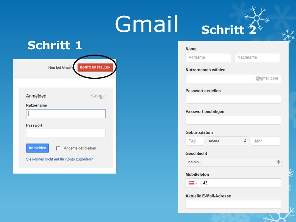 Gmail Schritt 1 Schritt 2