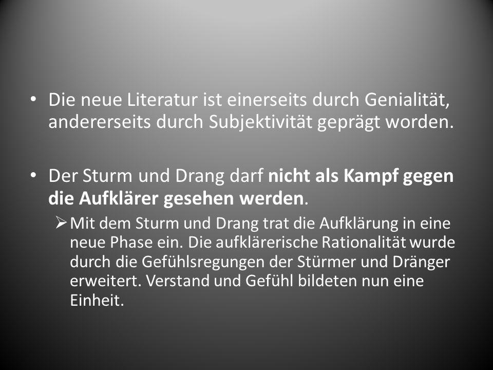 1.2 Das Drama im Sturm und Drang Die am meisten bevorzugte literarische Form in Sturm und Drang war das Drama Dies hatte den Grund, weil das Drama erzieherische und bildend war.