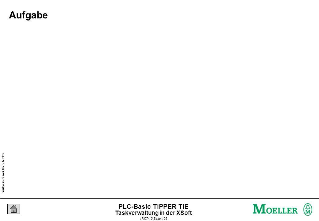 Schutzvermerk nach DIN 34 beachten 17/07/15 Seite 109 PLC-Basic TIPPER TIE Aufgabe Taskverwaltung in der XSoft