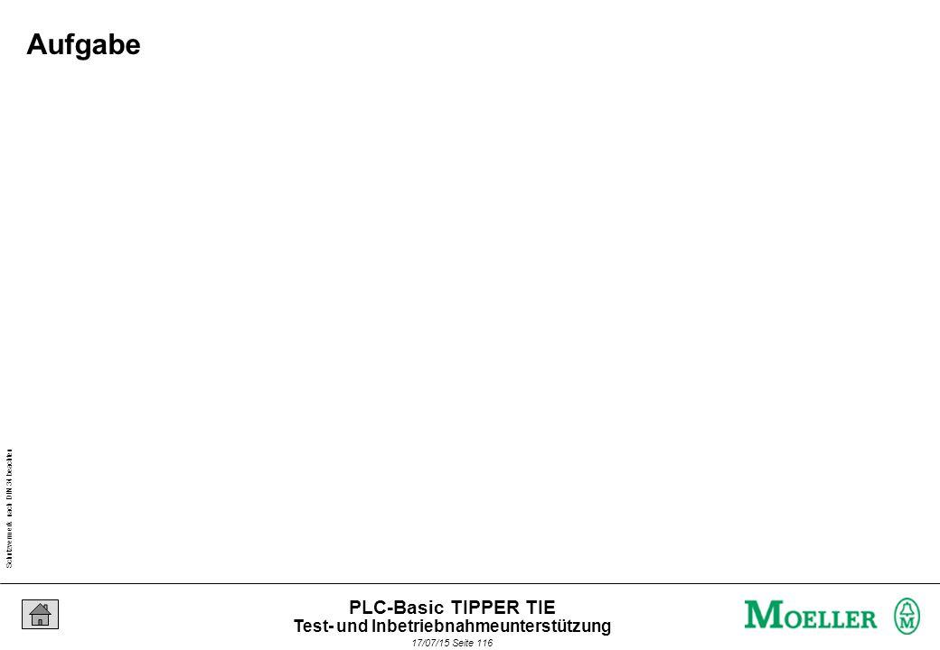Schutzvermerk nach DIN 34 beachten 17/07/15 Seite 116 PLC-Basic TIPPER TIE Aufgabe Test- und Inbetriebnahmeunterstützung