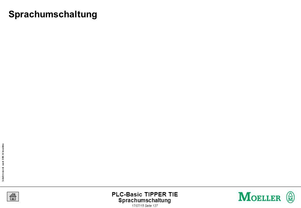 Schutzvermerk nach DIN 34 beachten 17/07/15 Seite 137 PLC-Basic TIPPER TIE Sprachumschaltung