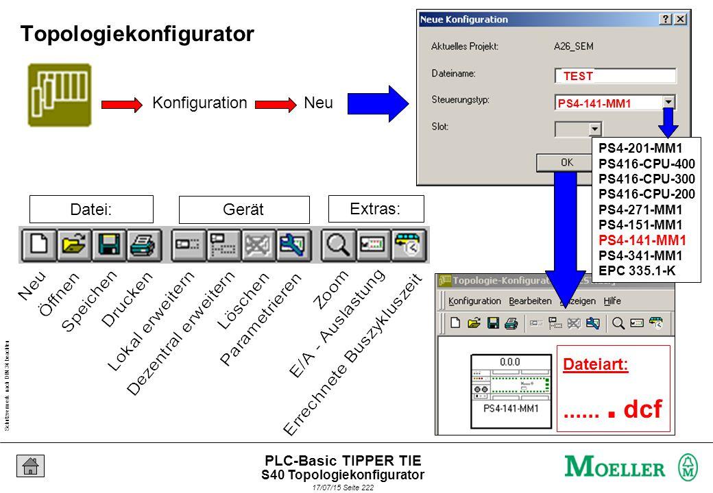Schutzvermerk nach DIN 34 beachten 17/07/15 Seite 222 PLC-Basic TIPPER TIE Datei: Gerät Extras: PS4-201-MM1 PS416-CPU-400 PS416-CPU-300 PS416-CPU-200 PS4-271-MM1 PS4-151-MM1 PS4-141-MM1 PS4-341-MM1 EPC 335.1-K Dateiart:.......