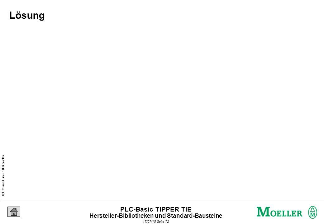 Schutzvermerk nach DIN 34 beachten 17/07/15 Seite 72 PLC-Basic TIPPER TIE Lösung Hersteller-Bibliotheken und Standard-Bausteine