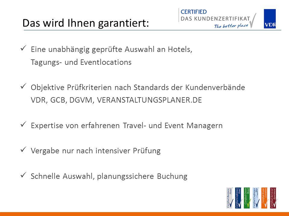 Was das Certified Business Hotel auf Geschäftsreisen bietet, garantiert das Certified Serviced Apartment für dauerhafte Aufenthalte.