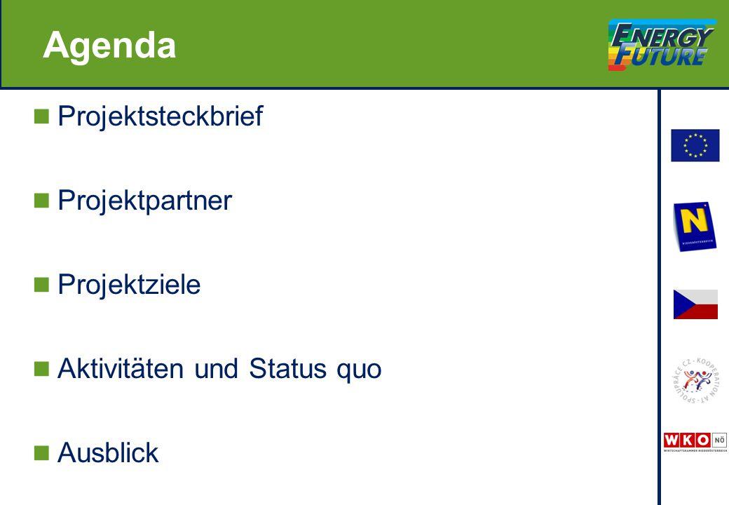 Agenda Projektsteckbrief Projektpartner Projektziele Aktivitäten und Status quo Ausblick