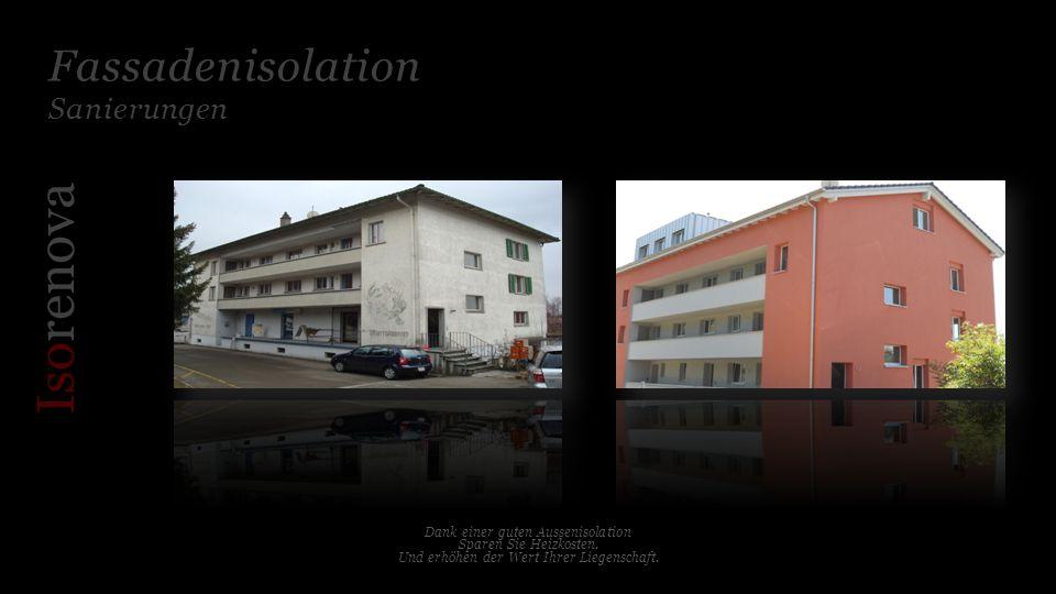 Fassadenisolation Neubau Iso renova Für jedes Objekt die richtige Systemlösung.