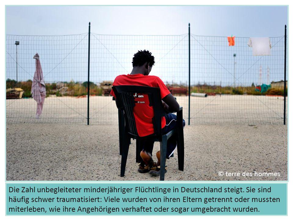 Die Zahl unbegleiteter minderjähriger Flüchtlinge in Deutschland steigt. Sie sind häufig schwer traumatisiert: Viele wurden von ihren Eltern getrennt