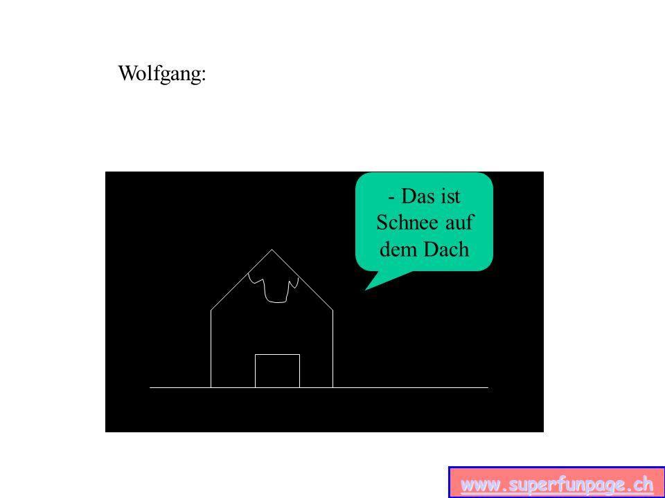 www.superfunpage.ch - Das ist Schnee auf dem Dach Wolfgang: