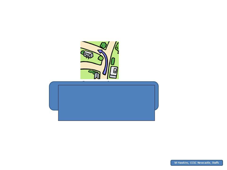 M Hawkins, CCSC Newcastle, Staffs Nehmen Sie die zweite Straße links