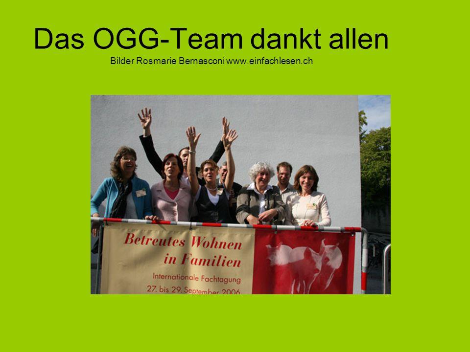 Das OGG-Team dankt allen Bilder Rosmarie Bernasconi www.einfachlesen.ch