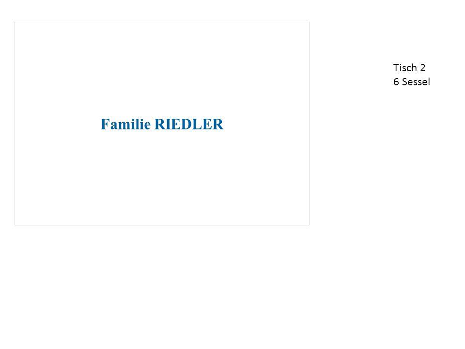 Familie RIEDLER und Gäste Tisch 3 7 Sessel
