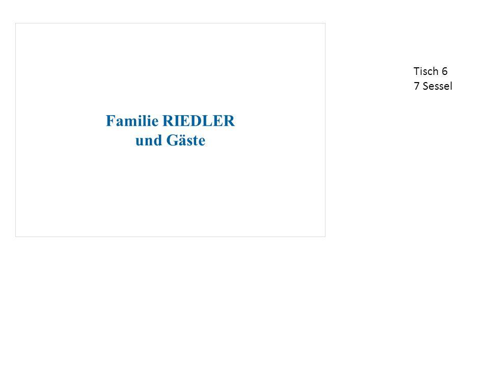 Familie RIEDLER und Gäste Tisch 6 7 Sessel