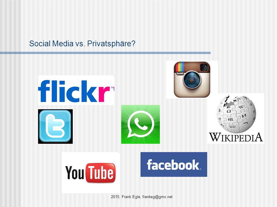 Social Media vs. Privatsphäre? 2015, Frank Egle, frankeg@gmx.net