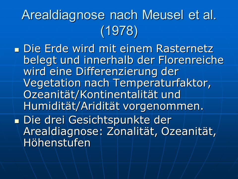 Arealdiagnose nach Meusel et al.