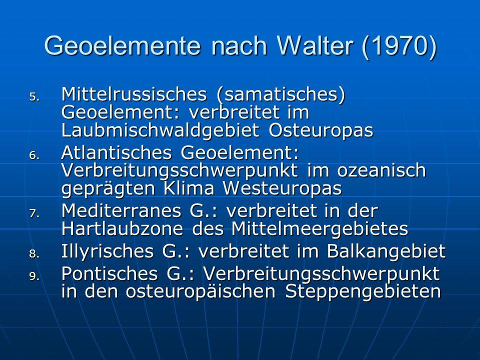 Geoelemente nach Walter (1970) 5.
