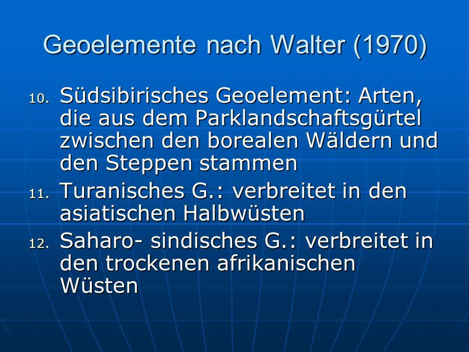 Geoelemente nach Walter (1970) 10.