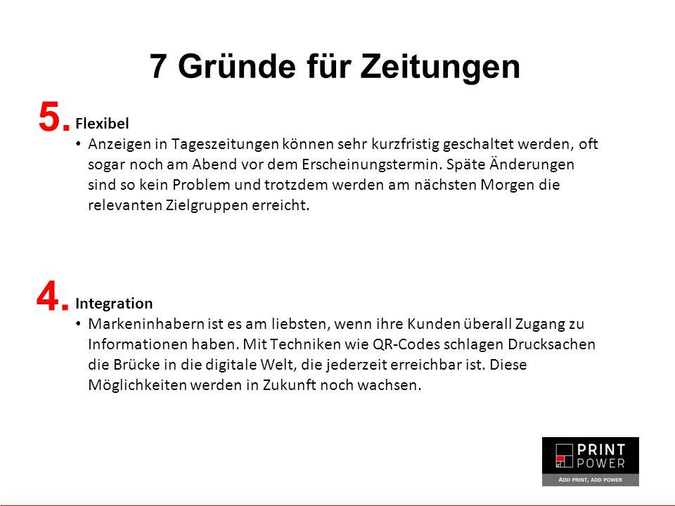 7 Gründe für Zeitungen 5.