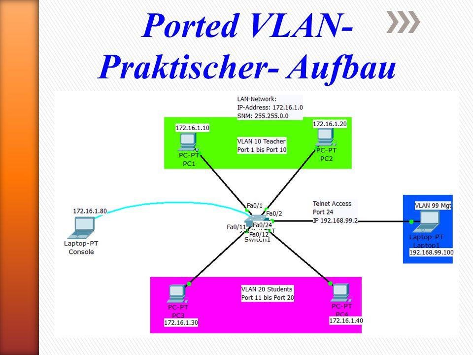 Ported VLAN- Praktischer- Aufbau