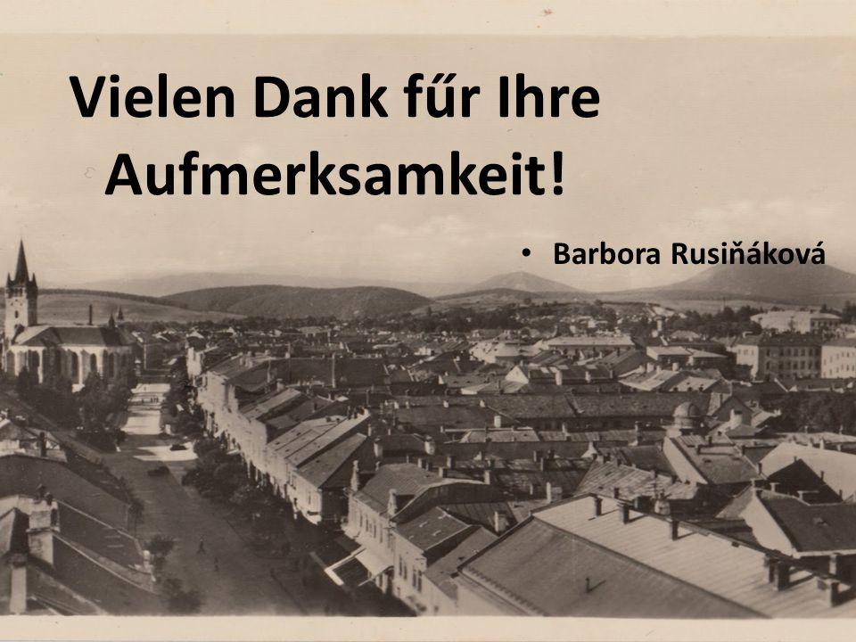 Vielen Dank fűr Ihre Aufmerksamkeit! Barbora Rusiňáková