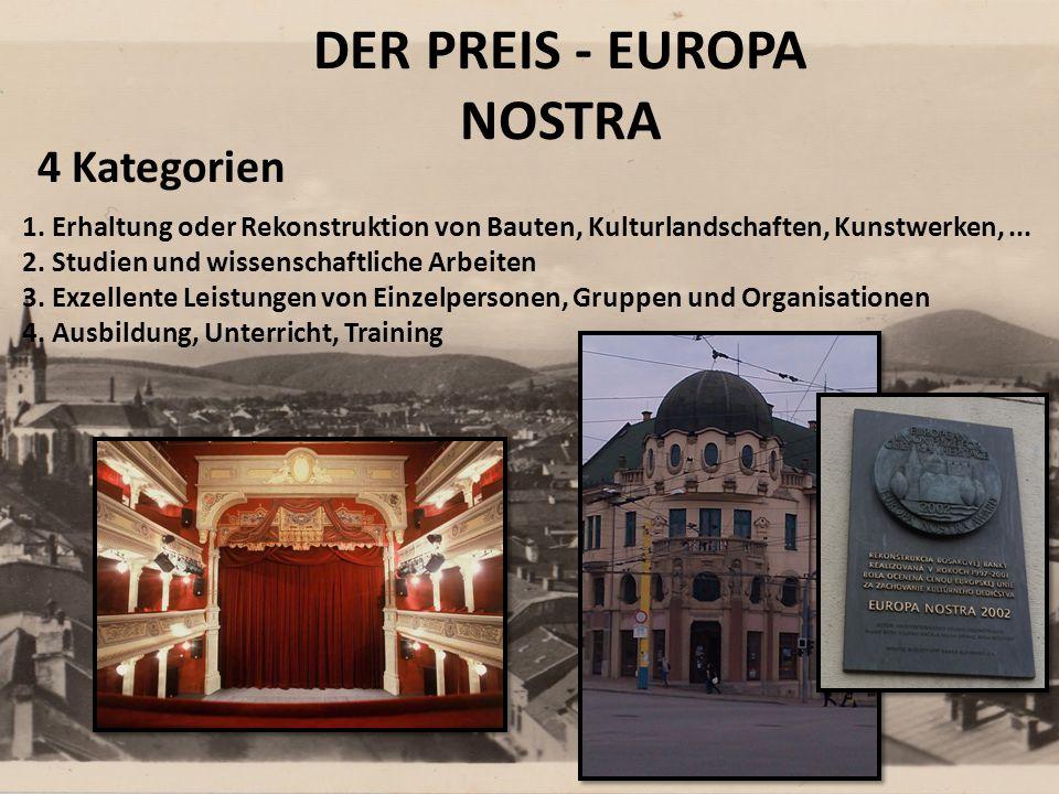 DER PREIS - EUROPA NOSTRA 1.