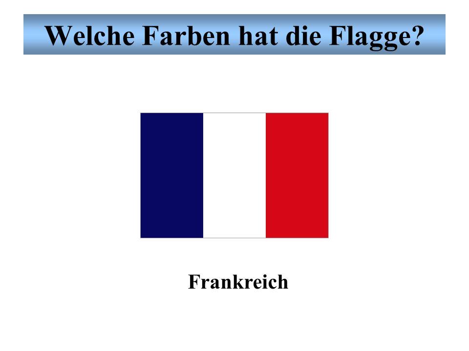 Welche Farben hat die Flagge? die Vereinigten Staaten