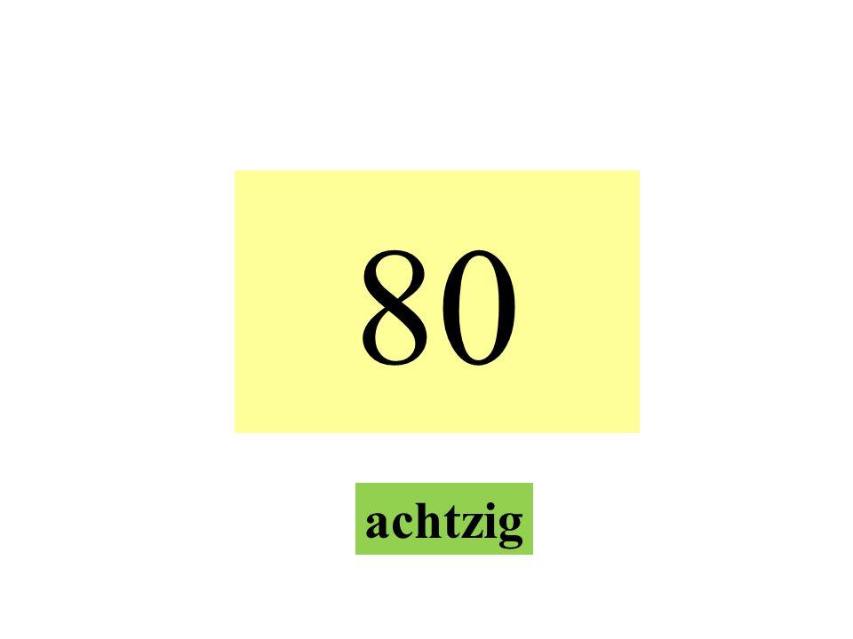 70 siebzig