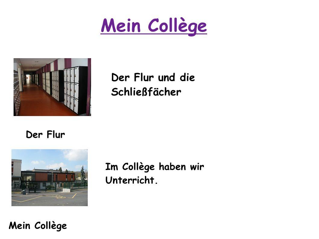 Mein Collège Der Flur Mein Collège Der Flur und die Schließfächer Im Collège haben wir Unterricht.