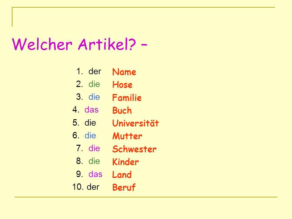 S.18 Possessives 1. ich 2. du 3. wir 4. sie (sing.) 5.