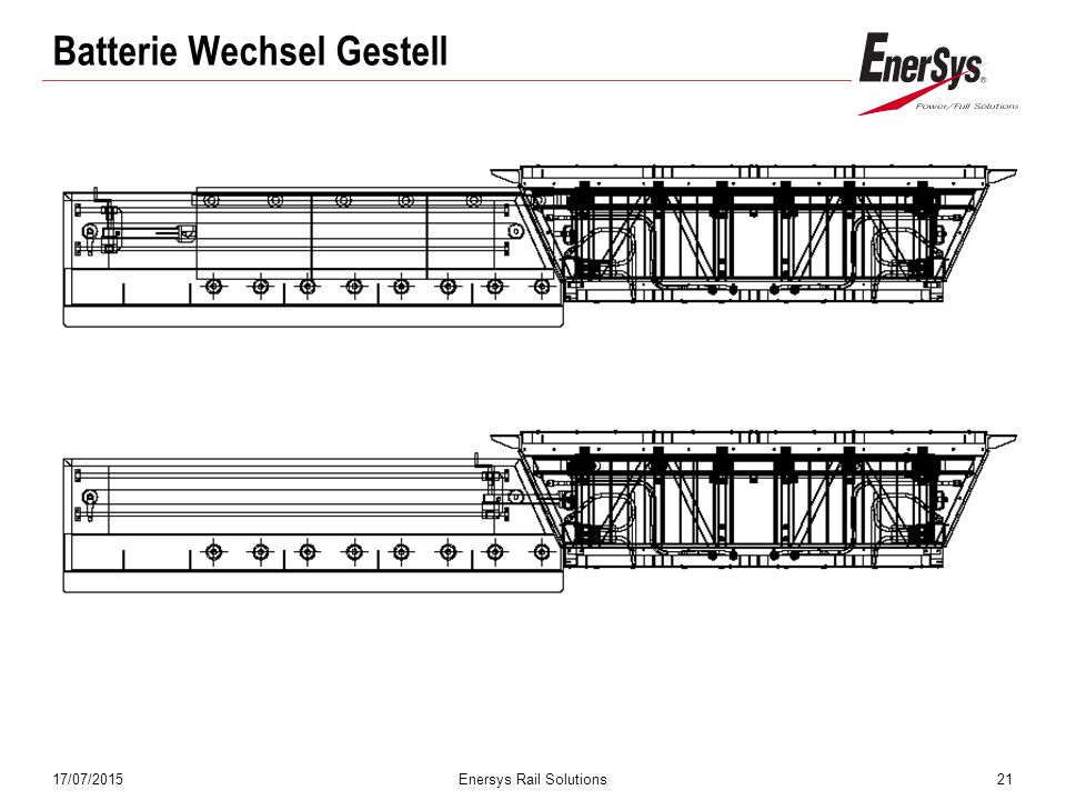17/07/2015Enersys Rail Solutions21 Batterie Wechsel Gestell