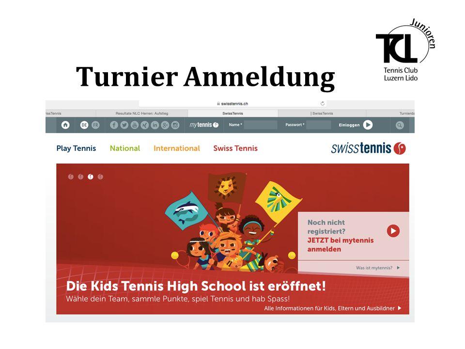 1.Melde dich mit deinem Benutzername und dem Passwort bei Swiss Tennis an.