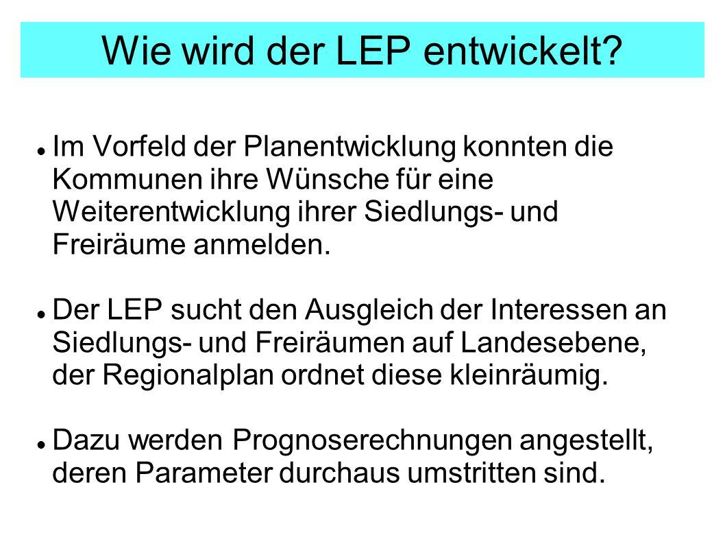 Wie wird der LEP entwickelt.