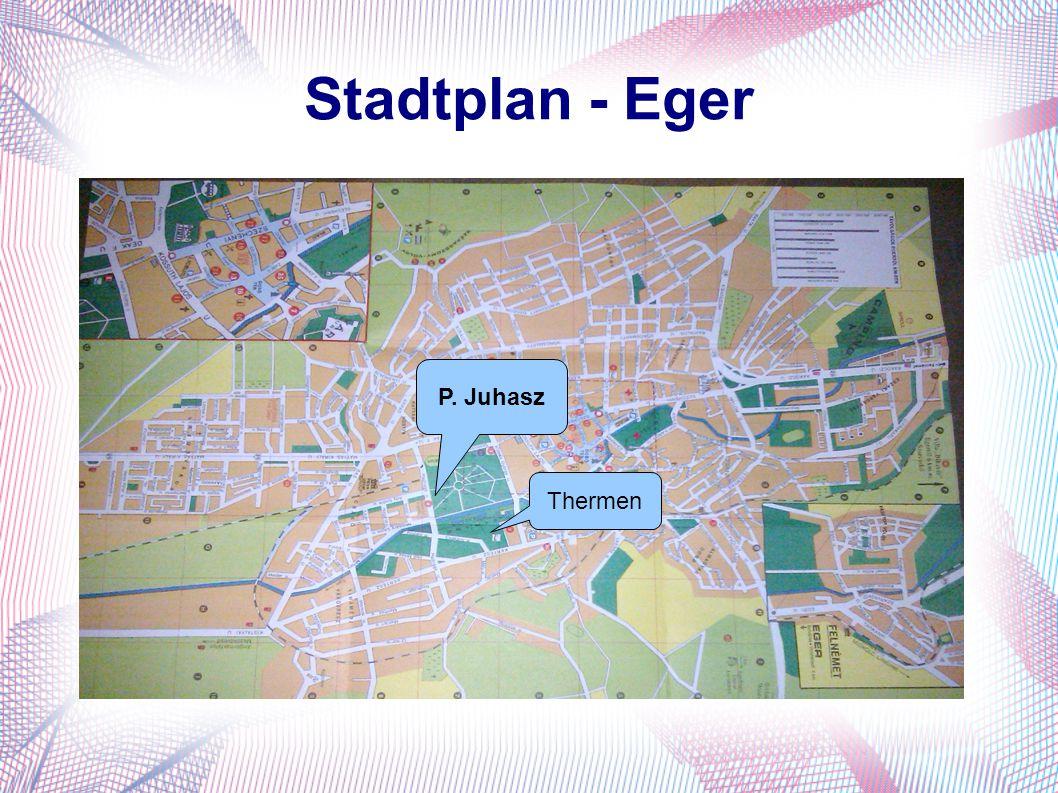 Stadtplan - Eger P. Juhasz Thermen