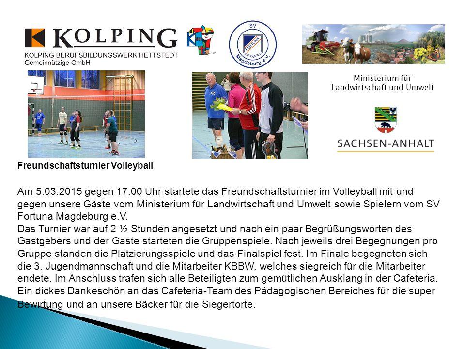 Die Siegermannschaft – das Ausbilderteam des Kolping- Berufsbildungswerk Herzlichen Glückwunsch