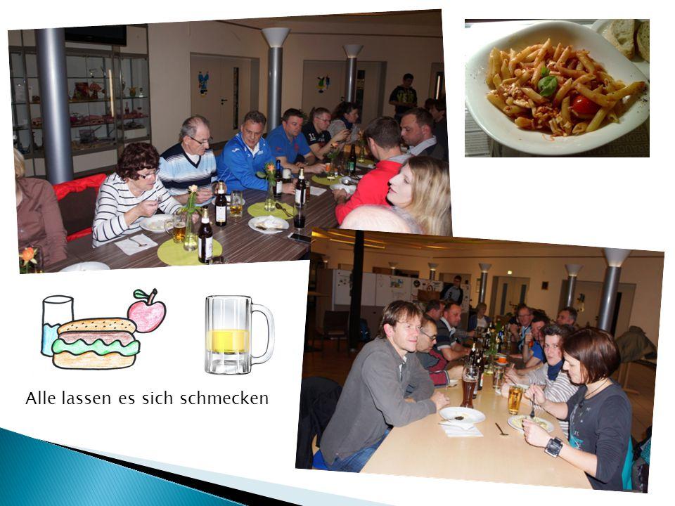 Die Siegertorte- Wie immer ein Genuss Lecker Pasta und Getränke in großer Auswahl.
