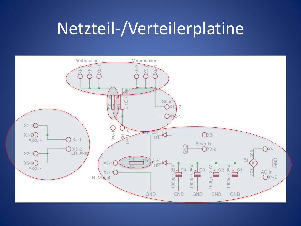 Netzteil-/Verteilerplatine