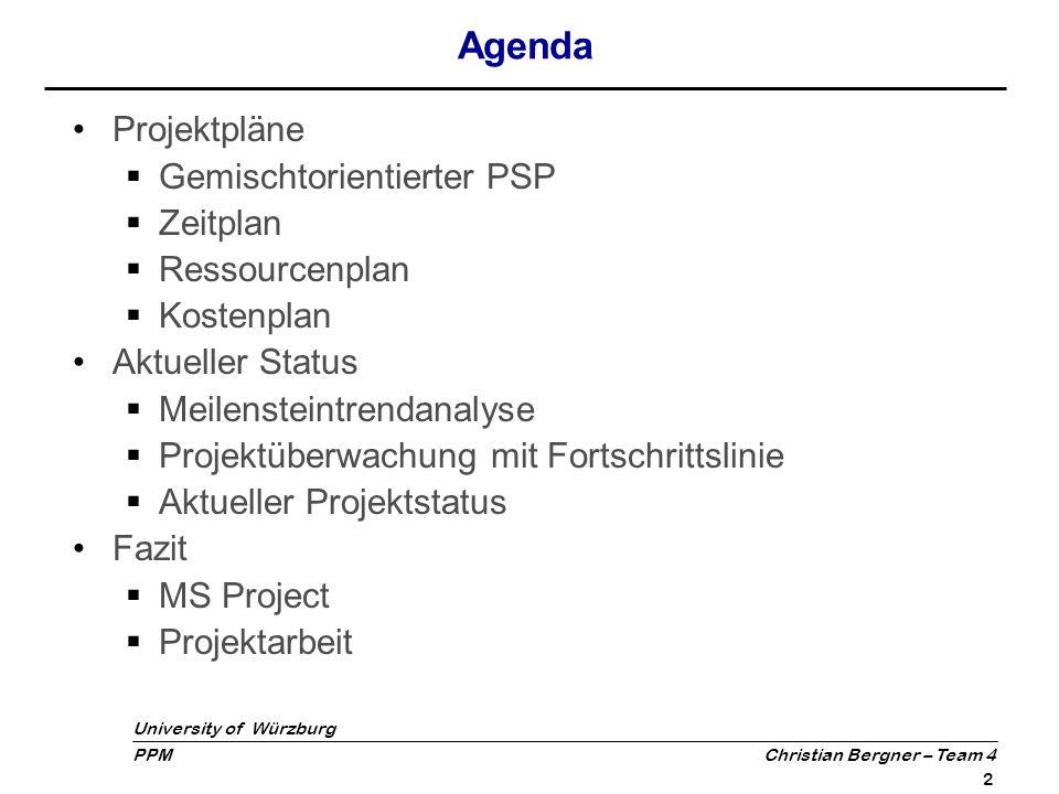 University of Würzburg PPM Christian Bergner – Team 4 3 Gemischtorienterter PSP