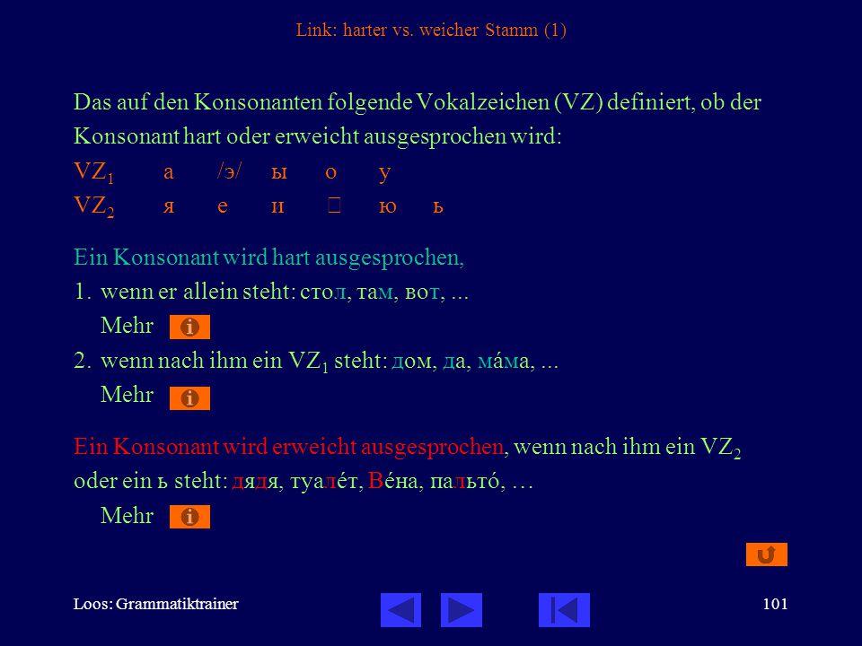 Loos: Grammatiktrainer101 Link: harter vs.