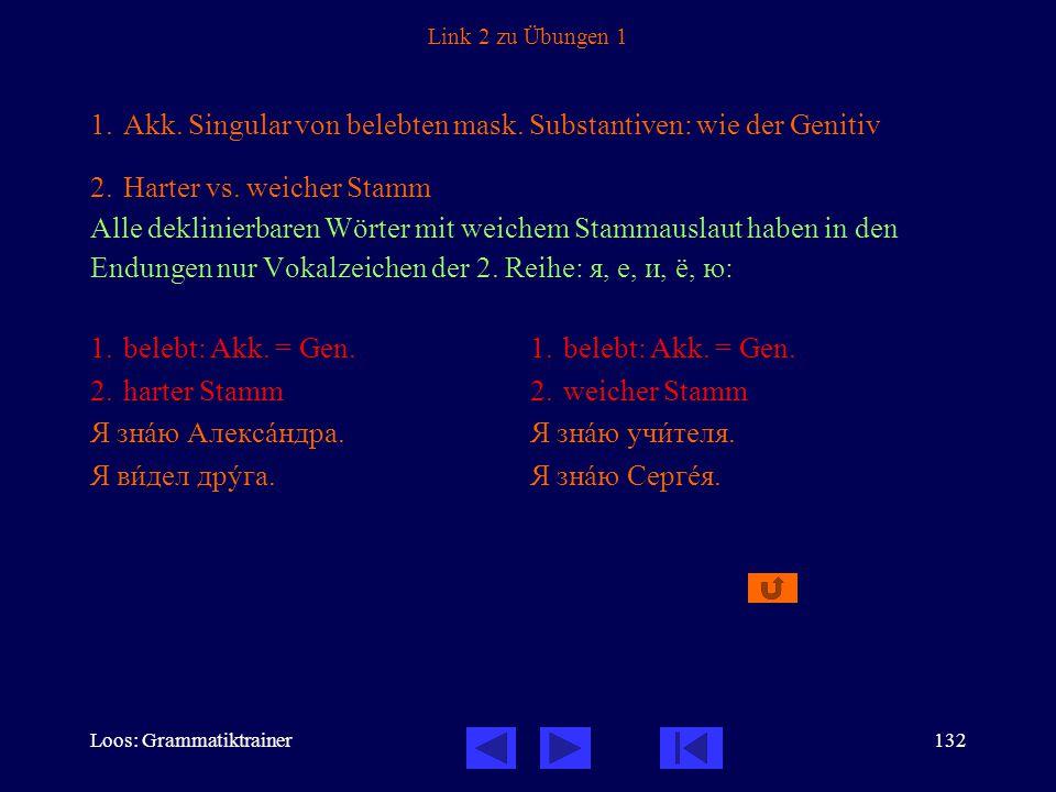 Loos: Grammatiktrainer132 Link 2 zu Übungen 1 1.Akk.