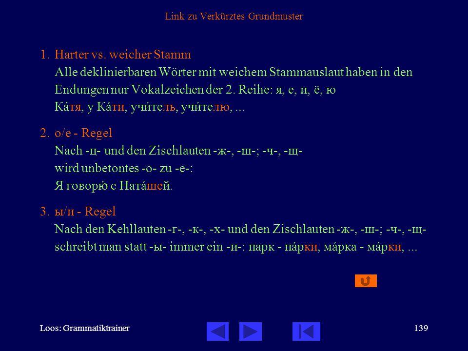 Loos: Grammatiktrainer139 Link zu Verkürztes Grundmuster 1.Harter vs.