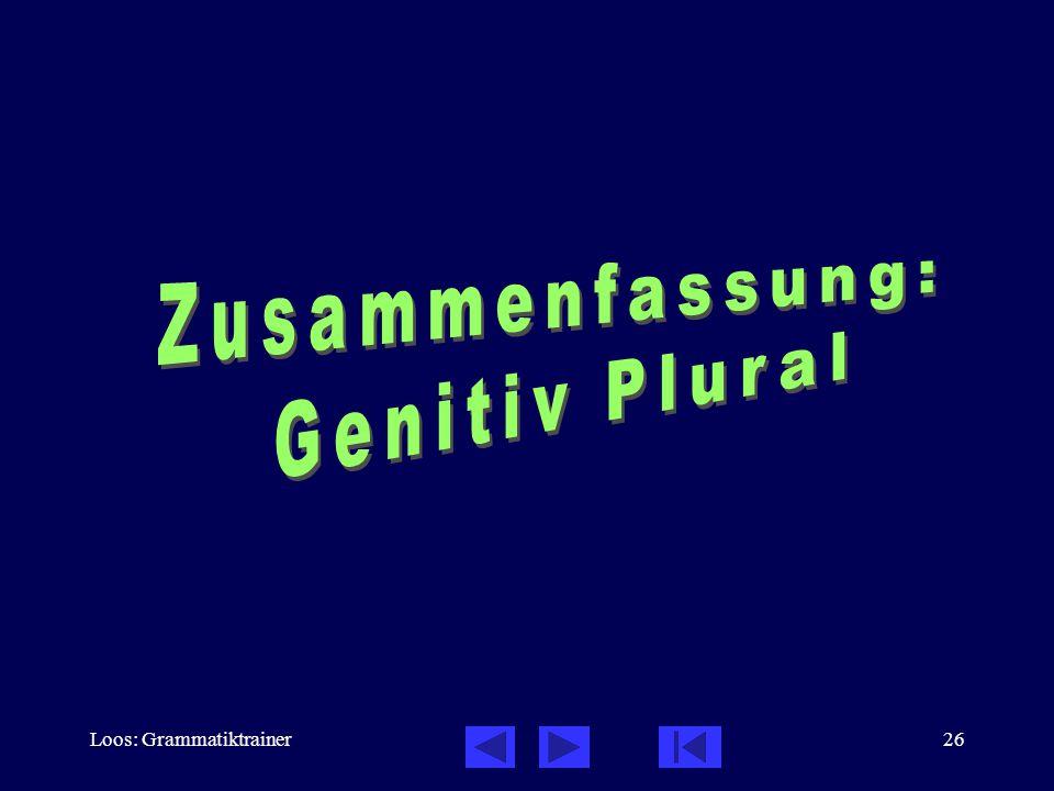 Loos: Grammatiktrainer26