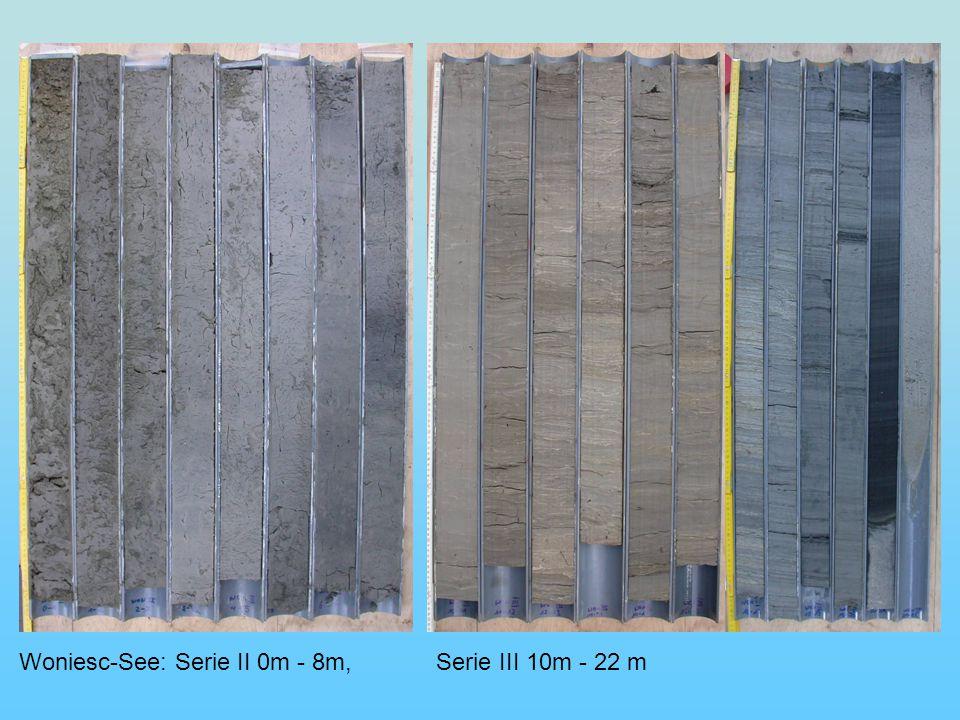 Woniesc-See: Serie II 0m - 8m, Serie III 10m - 22 m