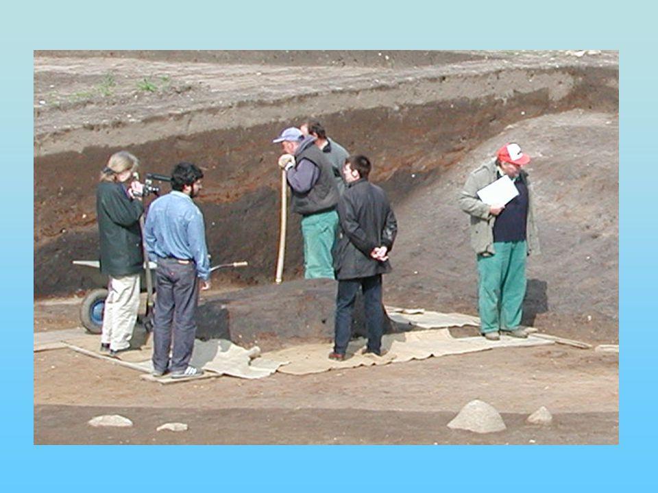 Proben 1-4: Sandblock der ersten Bauphase