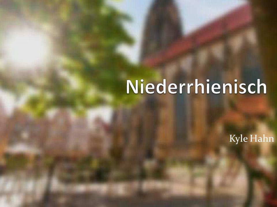 Wo und wer spricht Mann Niederrheinisch.Niederrheinisch ist nur im Nordrhein-Westfalen gesprochen.