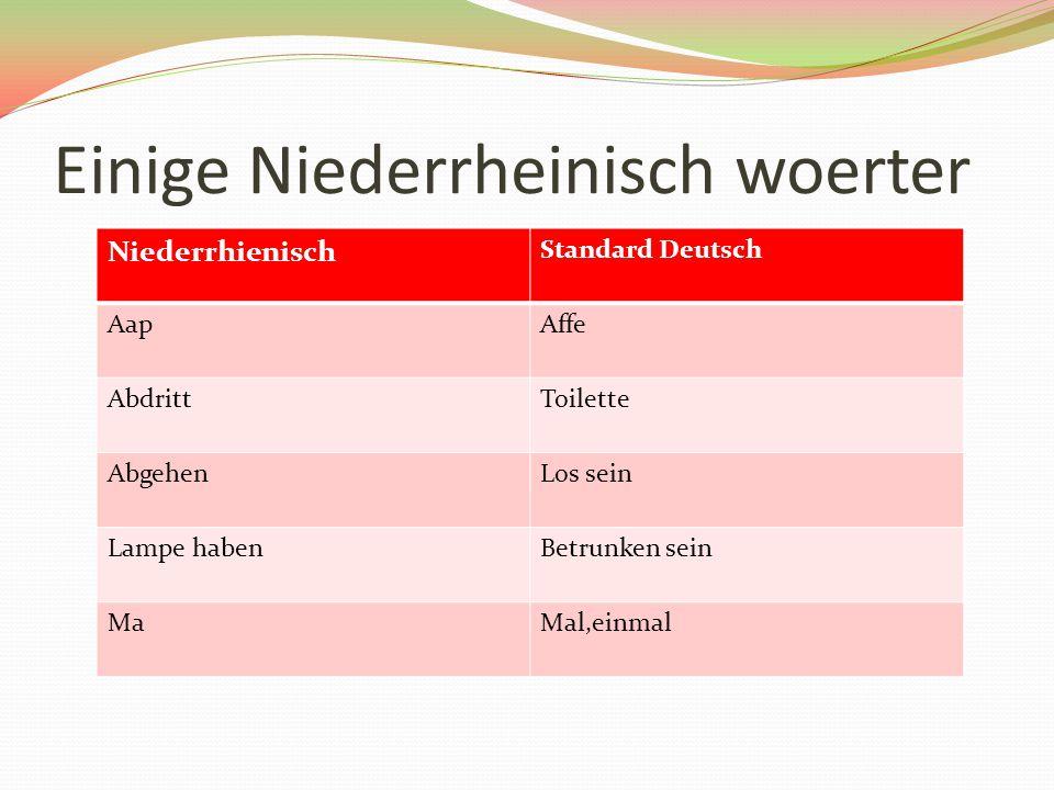 Was Ich interessant gefunden Woerter von der mittfraenkischen Mundarten, zum Beispiel der koelsche Stadtdialekt, sind im Laufe der Zeit in das niederrheinische Mundartgebiet eingedrungen.
